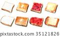 面包 水彩画 白面包 35121826