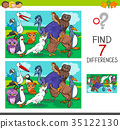 find differences game with birds characters 35122130