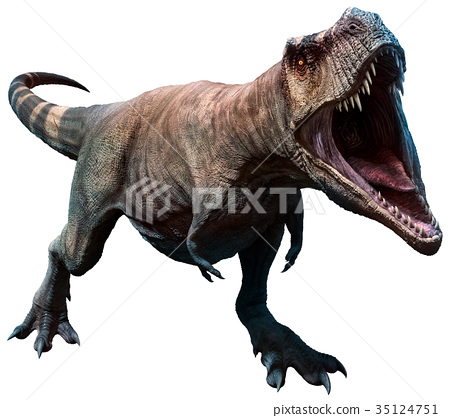 Tyrannosaurus about to bite 35124751