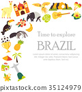 Tourist background welcome to Brazil with elements 35124979