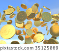 硬幣 錢幣 數碼成像圖片 35125869