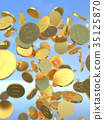 硬幣 錢幣 數碼成像圖片 35125870