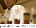 점원 - 맥주 서버 - 와인 잔 35127124