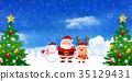คริสต์มาส,ซานต้า,กวางเรนเดียร์ 35129431