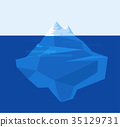 iceberg illustration flat design. vector illustrat 35129731