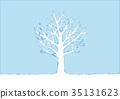 冬天樹的例證 35131623