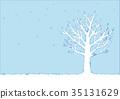 冬天樹的例證 35131629