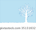 冬天樹的例證 35131632