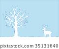 winter, wood, reindeer 35131640
