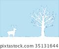 winter, wood, reindeer 35131644