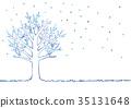 Illustration of winter tree 35131648