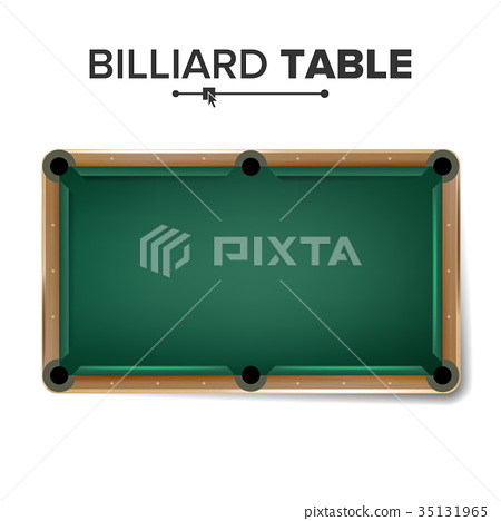 Billiard Table Vector. Classic Green Pool Table 35131965
