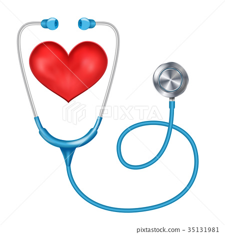 Stethoscope Isolated Vector. Medical Equipment 35131981