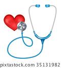 Medical Phonendoscope Isolated Vector.  35131982