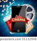 online, cinema, vector 35132046