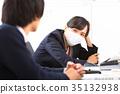 a, businesswoman, office 35132938