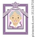 senior grandmother frame 35136750