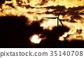 Wind Turbine at sunrise 35140708