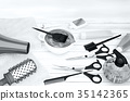 Hair, cutting, shears, combs, hair, dye 35142365