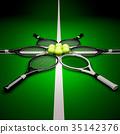 網球 球場 球 35142376