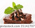 布朗尼 蛋糕 巧克力 35142707
