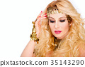 Portrait of beautiful blonde woman 35143290