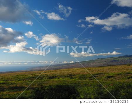 hawaiian islands, blue sky, blue water 35150252