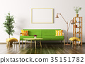 Interior of living room with sofa 3d render 35151782