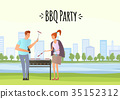 bbq, barbecue, vector 35152312