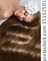 girl with beautiful long hair 35152501