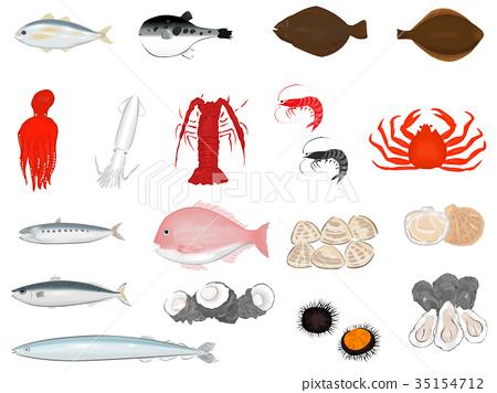 海鲜 海产品 一套 35154712