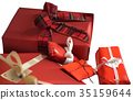 Red Christmas Gifts 35159644