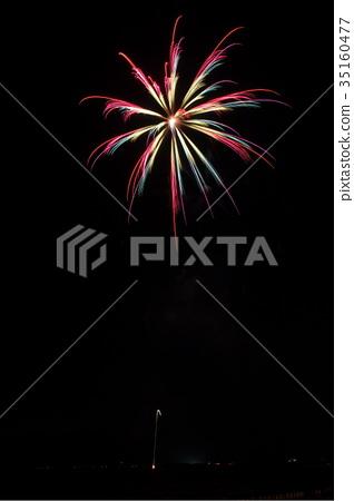 가지 키 여름 축제 불꽃 놀이 35160477