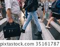urban rush crowd crosswalk city lifestyle 35161787