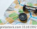地圖 羅盤 方向磁針 35161992