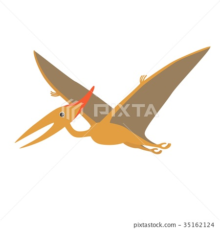 cartoon dino pteranodon 35162124