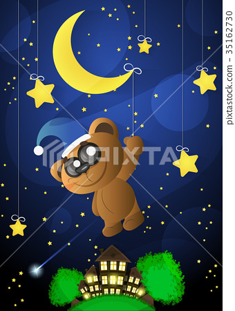 Good Night Moon Stock Illustration 35162730 Pixta