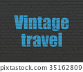 Travel concept: Vintage Travel on wall background 35162809