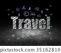 Travel concept: Travel in grunge dark room 35162810
