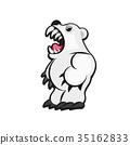 벡터, 디자인, 곰 35162833
