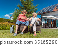 Happy senior couple in love relaxing together in 35165290