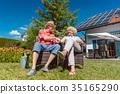 senior, garden, couple 35165290