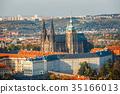 aerial view of mala strana district, Prague 35166013