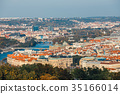 aerial view of old town in Prague, Czech republic 35166014