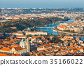 aerial view of old town in Prague, Czech republic 35166022