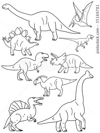 恐龍材料的線材料 35169781