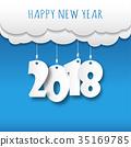 2018, card, greeting 35169785