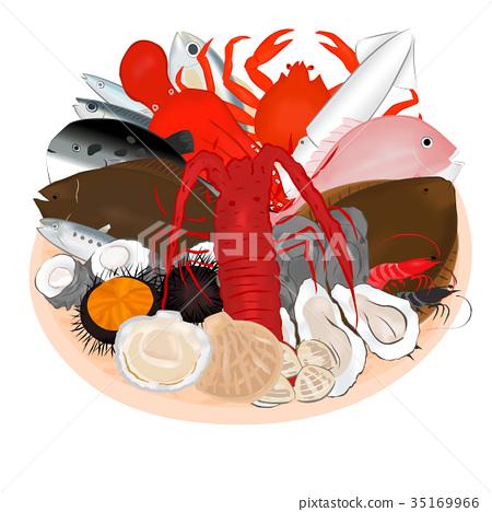 筛子 海鲜 海产品 35169966
