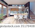 室内装饰 房间 桌子 35170408