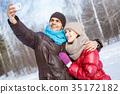 couple, winter, selfie 35172182